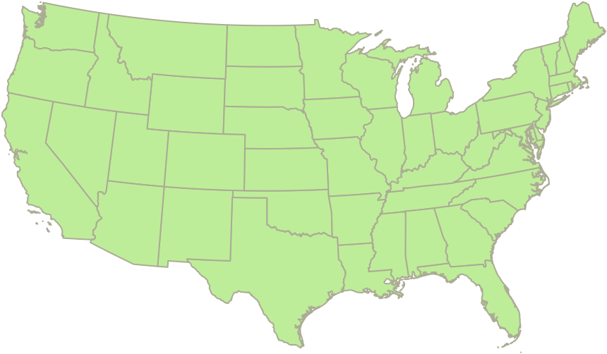 Frozen National Distribution Map