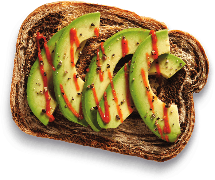 H&S Bakery avocado toast on marble bread example